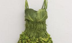野菜で作られた緑のドレス