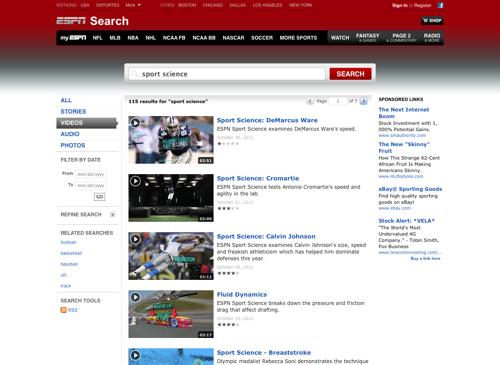 Sport Science Videos  ESPN